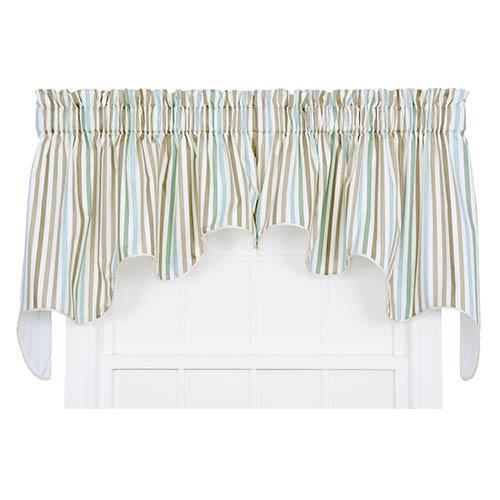 Ellis Curtain Line-Up Latte 100 x 30-Inch Lined Duchess Valance