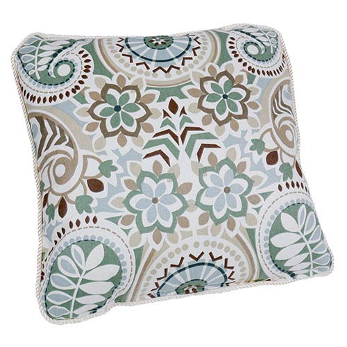 Paisley Latte 17-Inch Toss Pillow