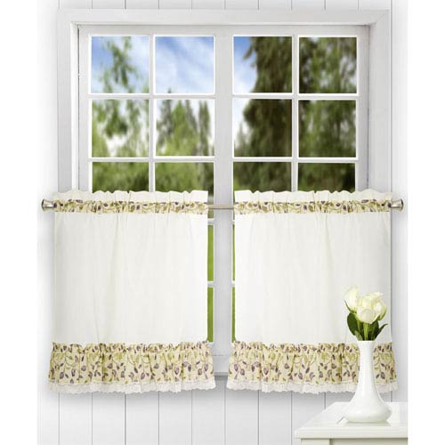 Ellis Curtain Clarice 58 X 30 Inch Ruffled Tailored Tier Curtains