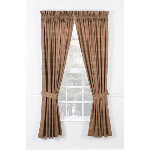 Ellis Curtain Morrison Rust 90 X 63 Inch Tailored Pair Curtains With Ties