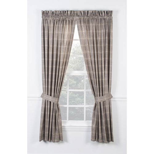 Ellis Curtain Morrison Patriot 90 X 84 Inch Tailored Pair Curtains With Ties