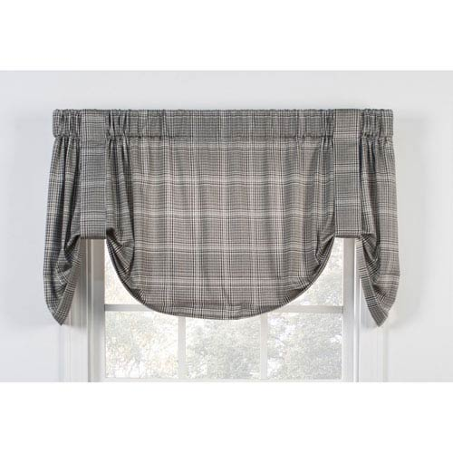 Morrison Black 60 x 22-Inch Tie-Up Valance