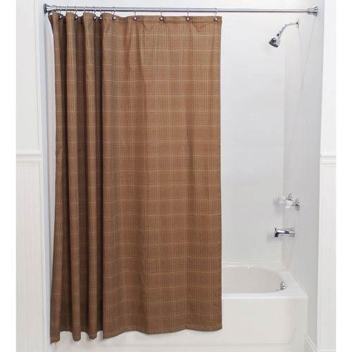 Ellis Curtain Morrison Rust 72 x 72-Inch Shower Curtain