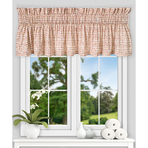 Davins Clay 80 x 15 Inch Tailored Valance
