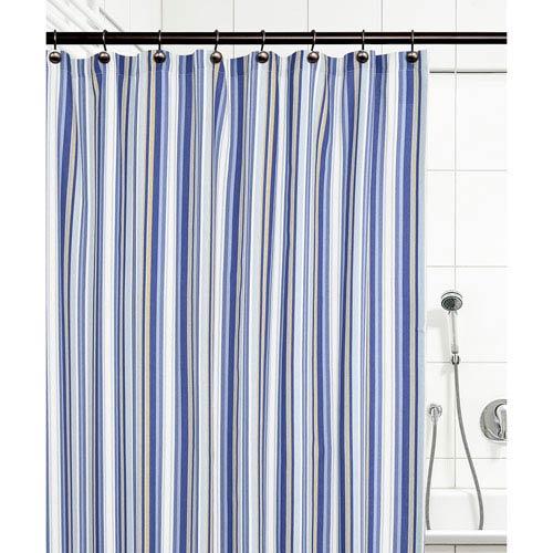 Mason Stripe Blue 72 X 72 Inch Shower Curtain