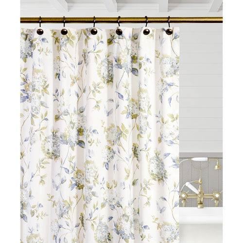 Ellis Curtain Abigail Porcelain 72 x 72 Inch Shower Curtain