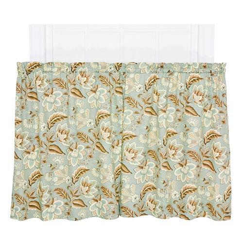 Ellis Curtain Valerie Spa 68 x 36-Inch Tailored Tier Curtain Pair