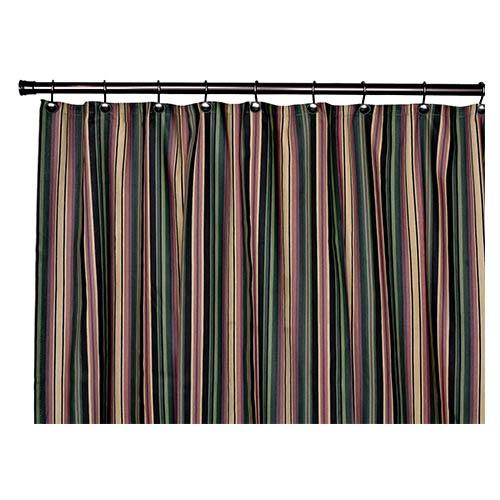 Montego Stripe Black 72 X Inch Shower Curtain