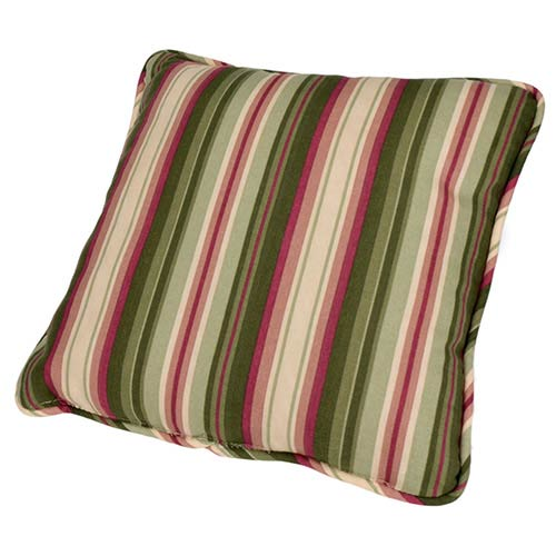 Ellis Curtain Montego Stripe Green 17-Inch Toss Pillow