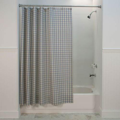 Bristol Two-Tone Plaid 72-Inch Bathroom Shower Curtain