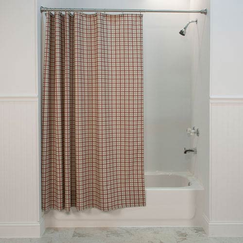 Ellis Curtain Bristol Two Tone Plaid 72 Inch Bathroom Shower Curtain