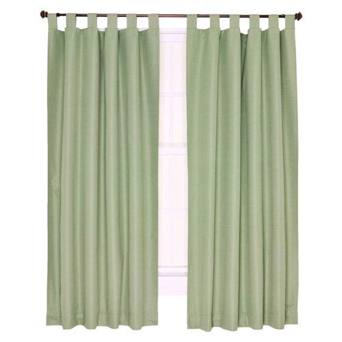 Ellis Curtain Crosby Sage Thermal Insulated 80-by-84 inch Tab Top Foamback Curtains