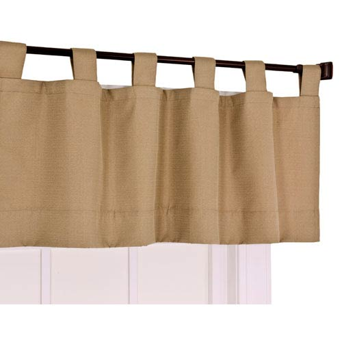 Crosby Linen Thermal Insulated Tab Top Foamback Valance