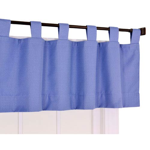 Crosby Slate Thermal Insulated Tab Top Foamback Valance