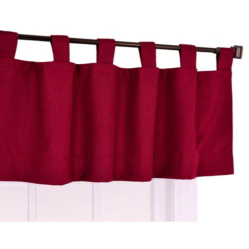 Crosby Bordeaux Thermal Insulated Tab Top Foamback Valance