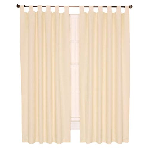 Ellis Curtain Crosby Natural Thermal Insulated 160-by-84 inch Double Width Tab Top Foamback Curtains