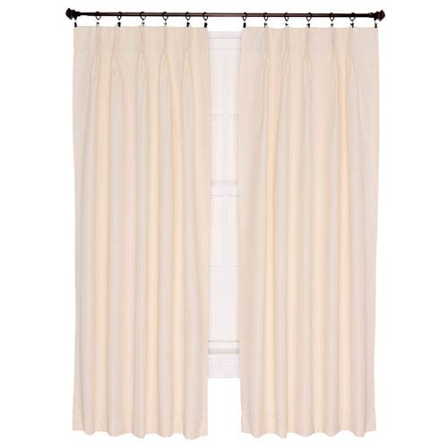 Crosby Natural Thermal Insulated 96-by-84 inch Pinch Pleated Foamback Curtains