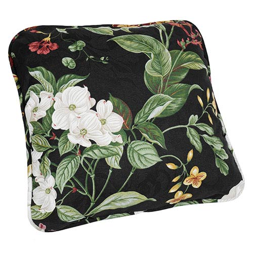 Garden Images Black 17-Inch Toss Pillow