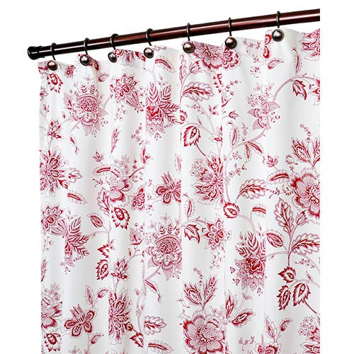 Ellis Curtain Winston Red 70 X 72 Inch Shower