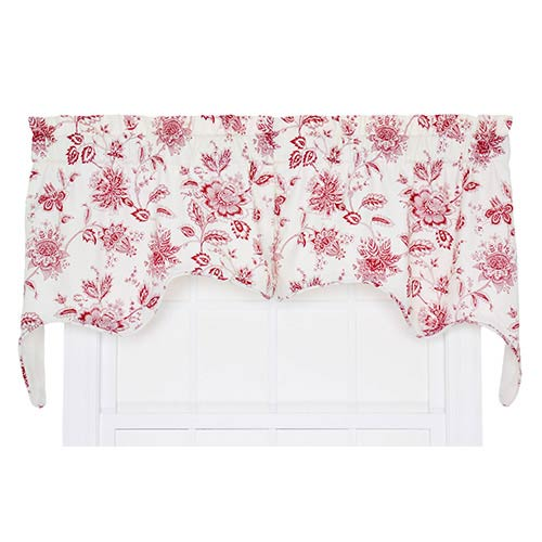 Ellis Curtain Winston Red 70 x 28-Inch Two-Piece Lined Swag Valance