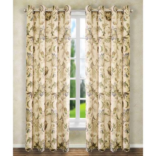 Brissac Linen 63 x 50-Inch Lined Grommet Curtain Single Panel