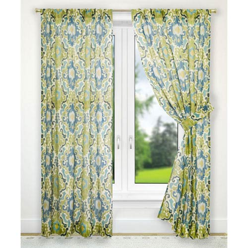 Ellis Curtain Tuscany Blue 70 X 63 Inch Tailored Panel Pair With Tiebacks