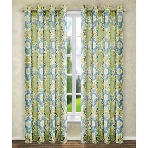 4c4408a23fe Ellis Curtain Tuscany Blue 63 x 50-Inch Lined Grommet Curtain Single Panel