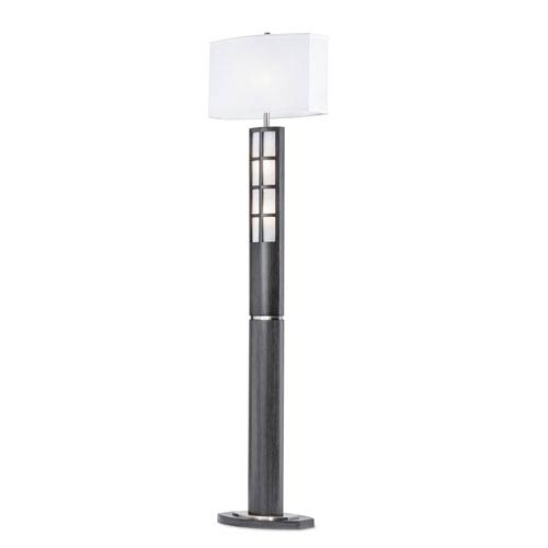 Ventana Charcoal Gray One-Light Floor Lamp