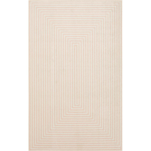 Concentric Pink Geometric Area Rug