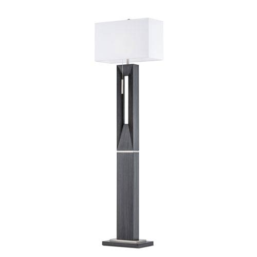 Parallux Charcoal Gray One-Light Floor Lamp