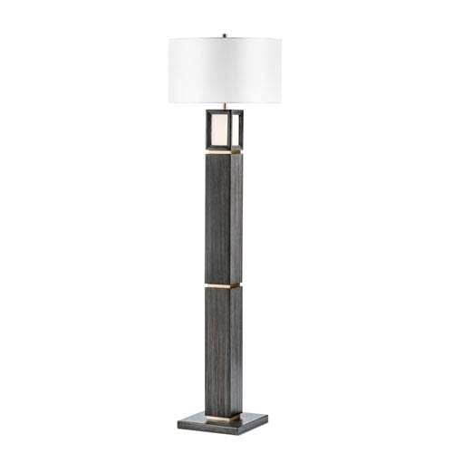Woodbury Ash Gray One-Light Floor Lamp