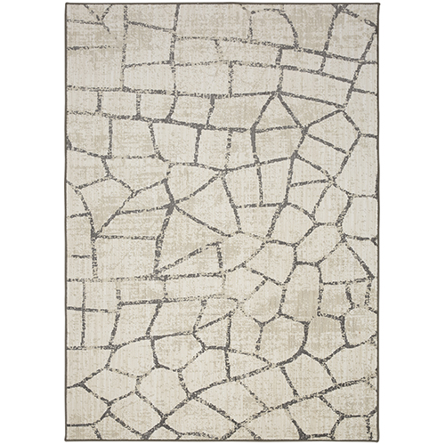 Design Concepts Simpatico Fragment Cream Ivory Runner: 2 Ft. 1 In. x 7 Ft. 10 In.