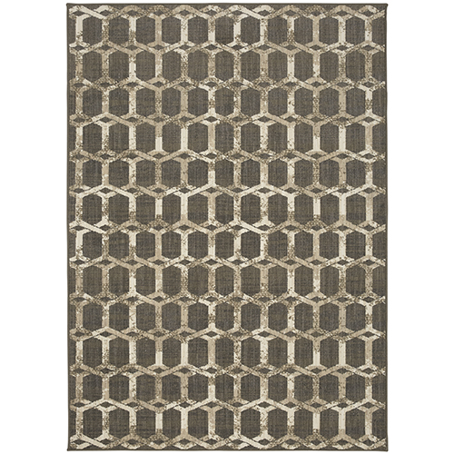 Design Concepts Simpatico Copacetic Silver Elephant Skin Rectangular: 5 Ft. 10 In. x 14 Ft. 10 In. Rug