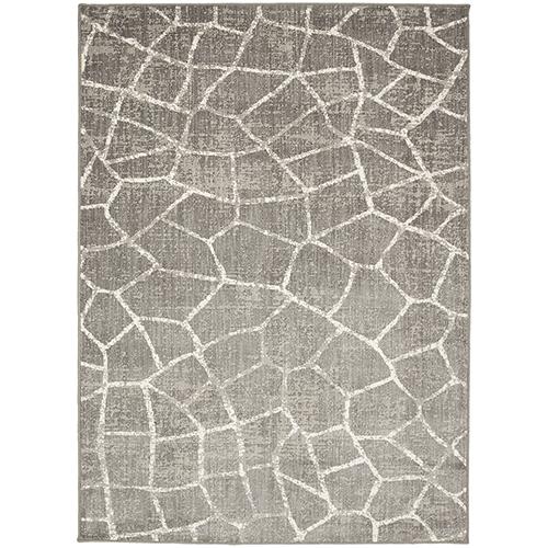 Design Concepts Simpatico Fragment Silver Elephant Skin Rectangular: 2 Ft. x 3 Ft. Rug