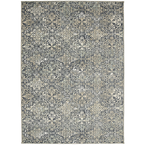 Design Concepts Simpatico Moy Silver Brown Runner: 2 Ft. 6 In. x 16 Ft.