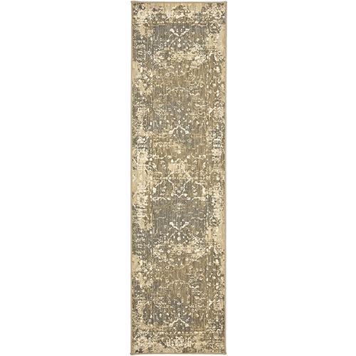Kismet Ivory Rectangular: 2 Ft. 1 In. x 7 Ft. 10 In. Rug