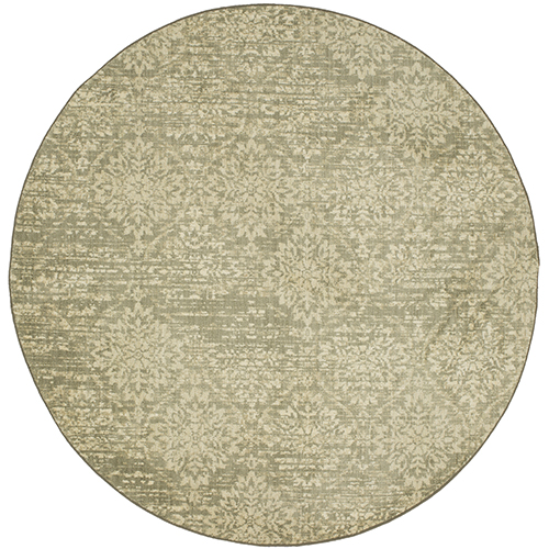 Euphoria Wexford Natural Willow Gray Round: 8 Ft. x 8 Ft. Rug