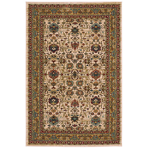 Spice Market Keralam Cream Multicolor Rectangular: 3 Ft. 5 In. x 5 Ft. 5 In. Rug