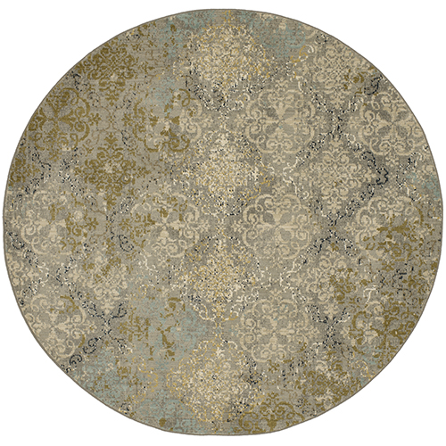 Touchstone Willow Gray Round: 8 Ft. x 8 Ft. Rug