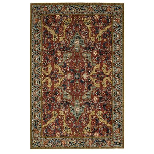 Vintage Tapis Versailles Garnet Multicolor Rectangular: 2 Ft. x 3 Ft. Rug