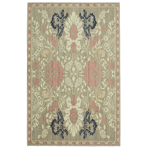 Vintage Tapis Paris Garden Gray Beige Rectangular: 2 Ft. x 3 Ft. Rug
