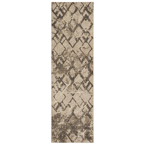 Cosmopolitan Quartz Linen Antique White Rectangular: 5 Ft. 3 In. x 7 Ft. 10 In. Rug