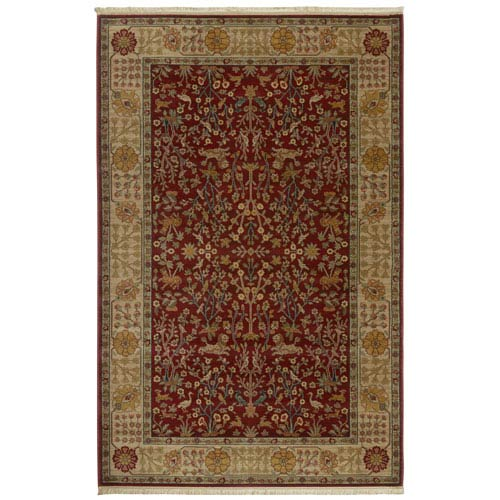 Karastan Antique Legends Emperors Hunt Brick Red Rectangular: 10 Ft x 14 Ft Rug