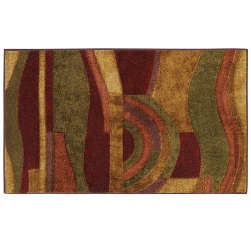 Mohawk Home New Wave Picasso Wine Rectangular: 1 Ft. 8 In. x 2 Ft. 10 In. Rug