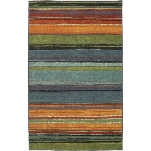 Rainbow Multicolor Rectangular: 7 Ft. 6-Inch x 10 Ft. Rug