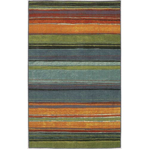 Rainbow Multicolor Rectangular: 6 Ft. x 9 Ft. Rug