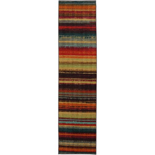 Boho Stripe Multicolor Runner: 2 Ft x 8 Ft Rug