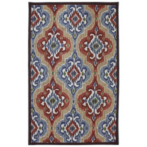 Mystic Ikat Primary Rectangular: 5 Ft. x 8 Ft. Rug