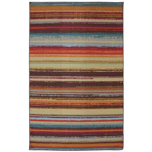 Avenue Stripe Multicolor Rectangular: 7 Ft. 6-Inch x 10 Ft. Rug