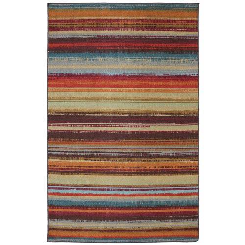 Mohawk Home Avenue Stripe Multi-Colored Rectangular: 5 Ft. x 8 Ft. Rug